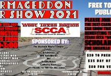 West Texas Region Sports Car Club of America's Carmageddon Car Show 2021