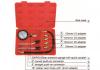 Engine Cylinder Compression Pressure Tester Gauge Fittings Tool Kit